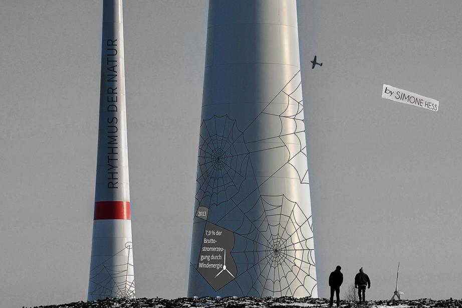 Gestaltung an Windkraftanlagen - Getreide