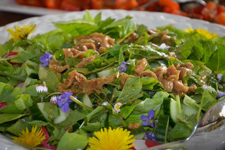 Gesundes Mittagessen - Salat aus der Natut