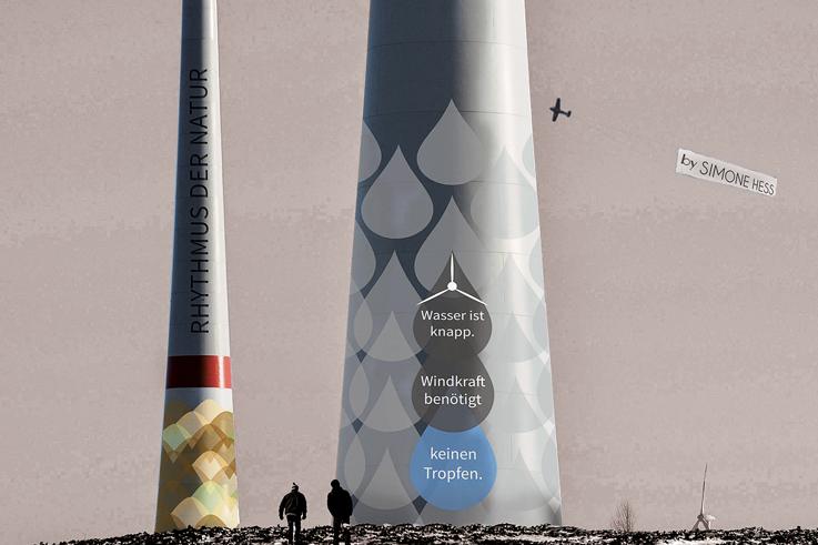 Gestaltung an Windkraftanlagen - Tropfen