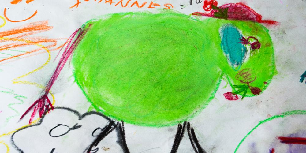 Kinderzeichnung Schaf